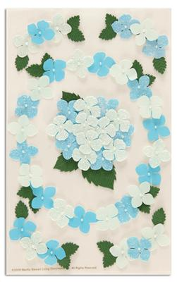Martha Stewart Crafts Stickers Pansy Blue
