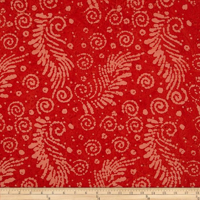 Indian Batik Feather Coral