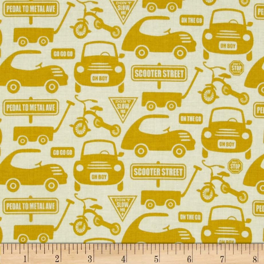 Riley Blake Cruiser Blvd Cars Yellow