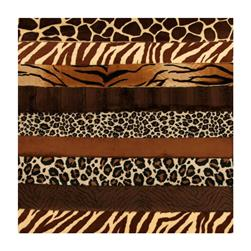 Cuddle Strip Quilt Adult Kit w/Pattern Animal Brown