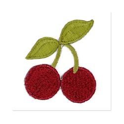 Boutique Applique Cherries Red/Green
