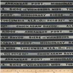 Gettysburg Civil War VIII Battle Names Stripe Blue