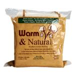 Warm & Natural Cotton Batting Queen Size