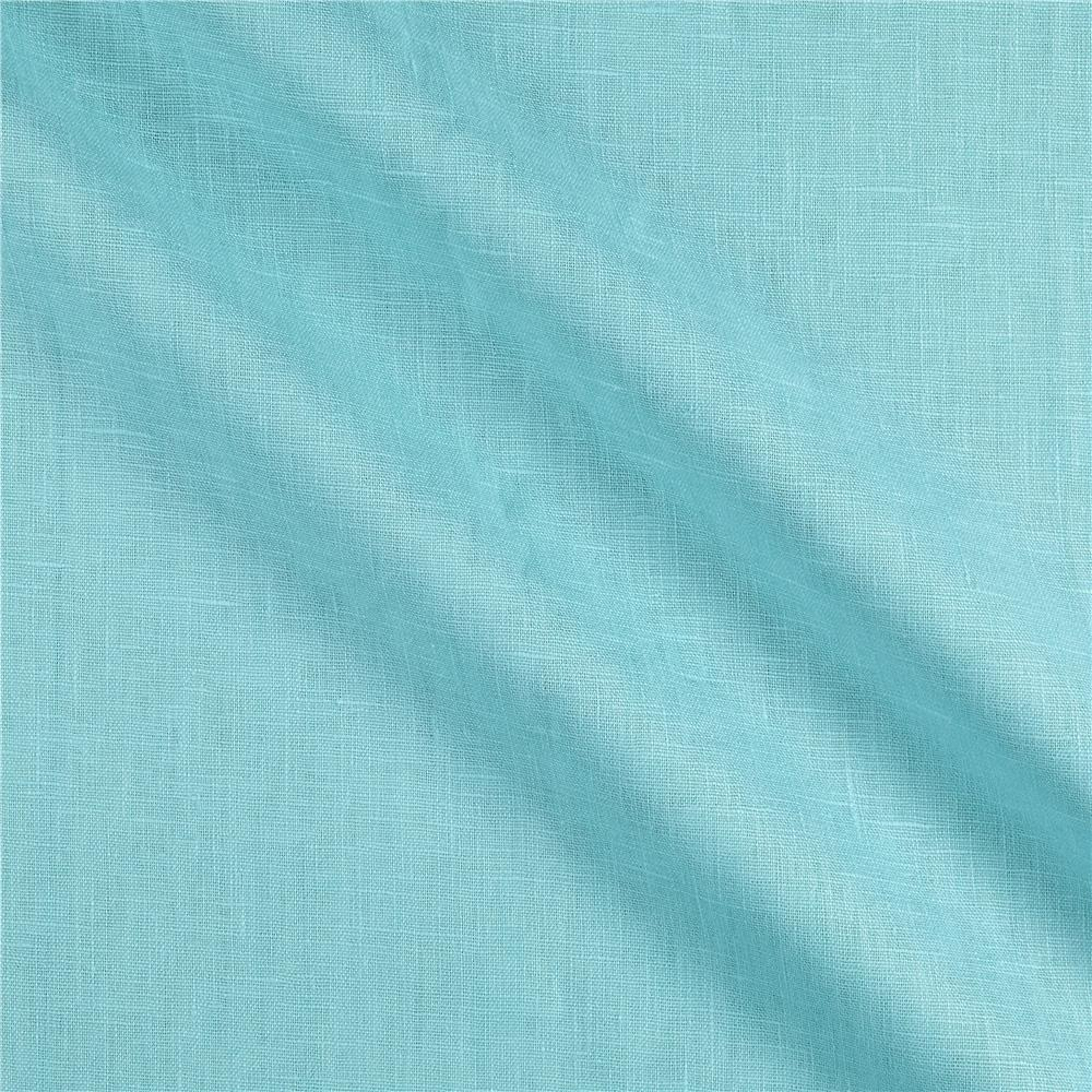 European Linen Fabric Turquoise