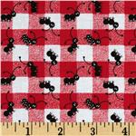 FI-384 Picnic Plaid Tossed Ants Red