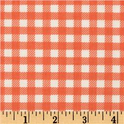 Michael Miller Children at Play School Gingham Coral