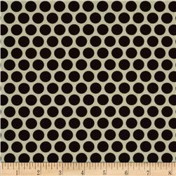 Retro Geo Polka Dot Ivory/Brown