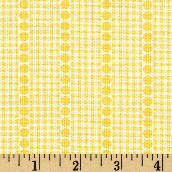 Brights &amp; Pastels Basics Gingham Dot Stripe Light Yellow