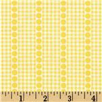 Brights & Pastels Basics Gingham Dot Stripe Light Yellow