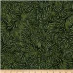 Batavian Batiks Petals Dark Green
