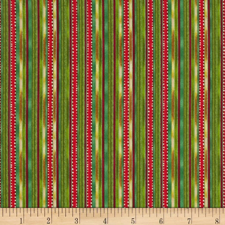 Santa Paws Ribbon Stripe Green