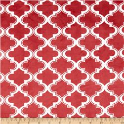 Minky Moroccan Tile Brick Red