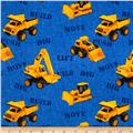 Caterpillar Nursery Toy Machines Allover Blue
