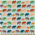 Urban Circus Elephants Sky Blue