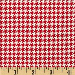 Rooster Royale Houndstooth Red/Cream