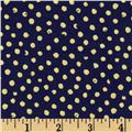 Confetti Sparkle Metallic Dots Navy