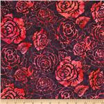 Bali Batiks Roses New Grape