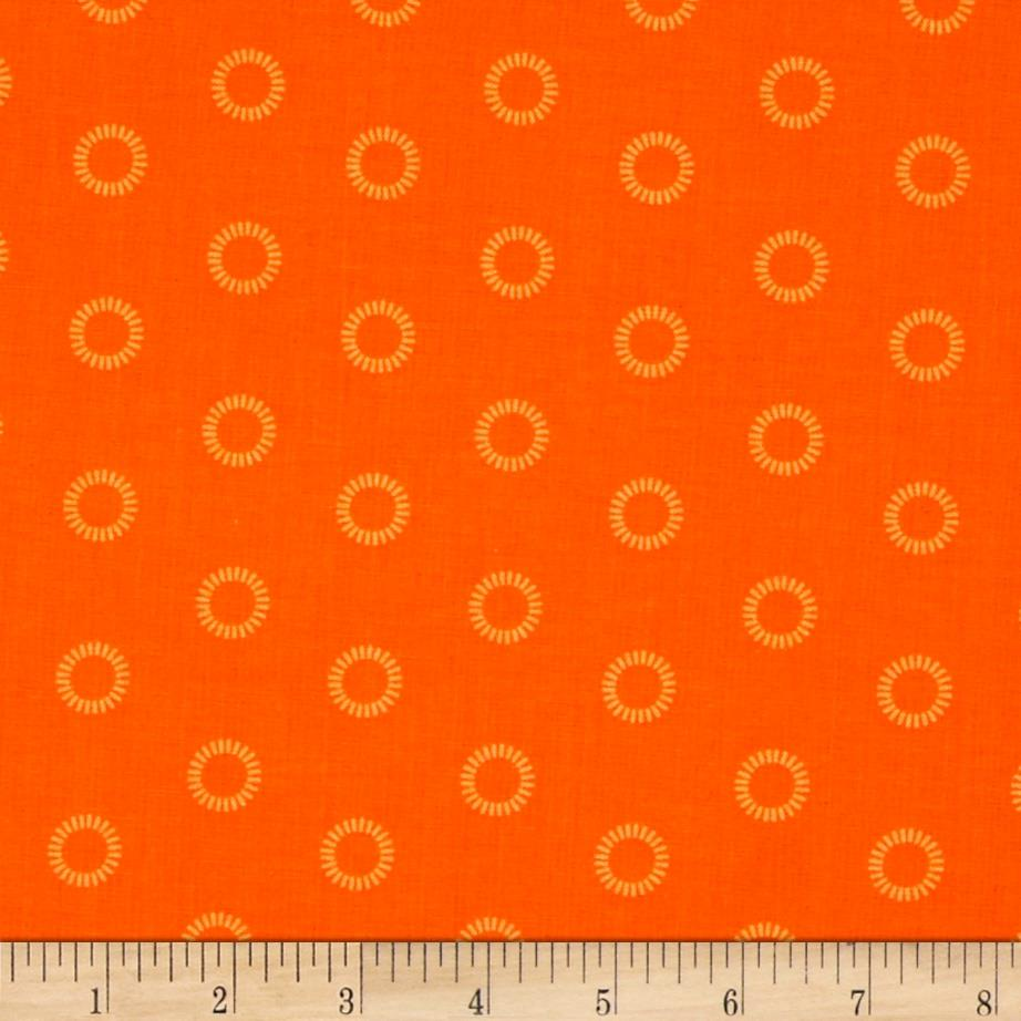 Mystic Forest Stitched Circles Orange