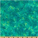 Tonga Batik Plume Floral Teal