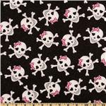 CW-854 Skulls Glitter Glam Black
