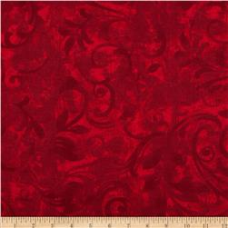 Christmas Flannel Swirls Red