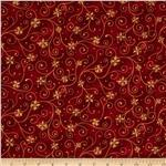 0284334 Holiday Accents Classics 2013 Metallic Swirl Red