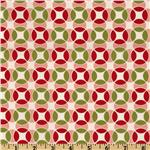 Moda Vintage Modern Geo Circles Candy Apple