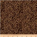 213415 Swirl Basics Scroll Leaf Brown