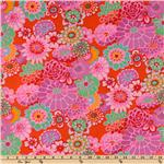 CT-696 Kaffe Fassett Asian Circles Tomato