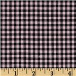 Woven 1/8'' Cotton Gingham Pink/Brown