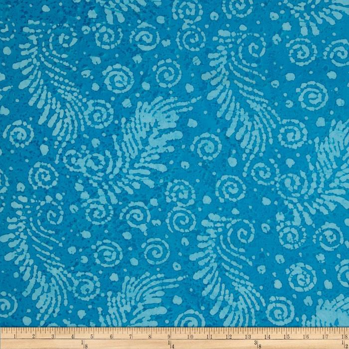Indian Batik Feather Turquoise