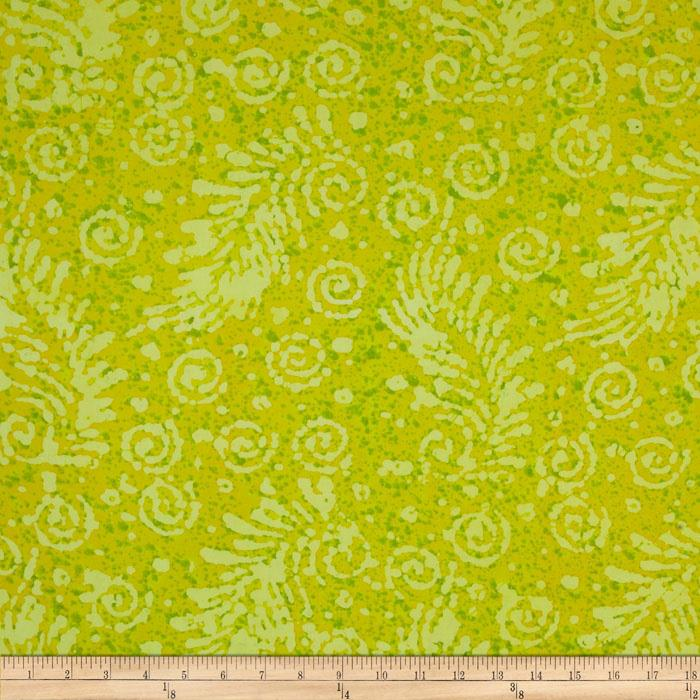 Indian Batik Feather Yellow
