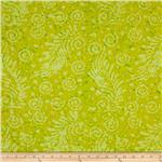 0269771 Indian Batik Feather Yellow