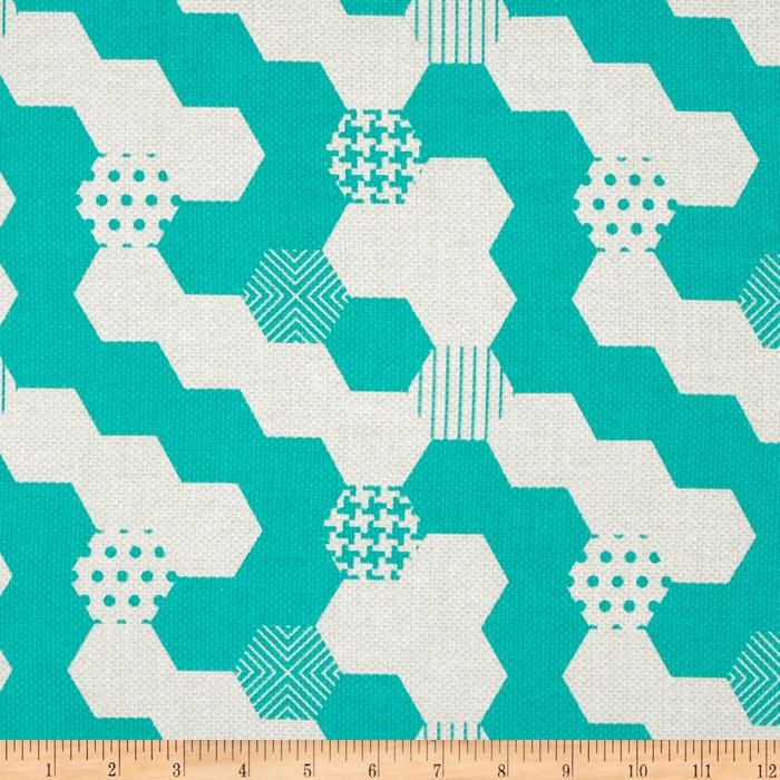 Michael Miller Textured Basics Hexies Teal