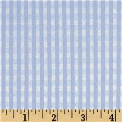 Cotton Blend Woven 1/8'' Gingham Blue