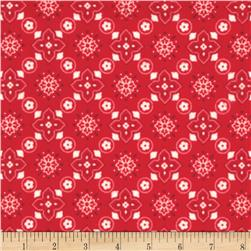 Riley Blake Flannel Sasparilla Bandana Red