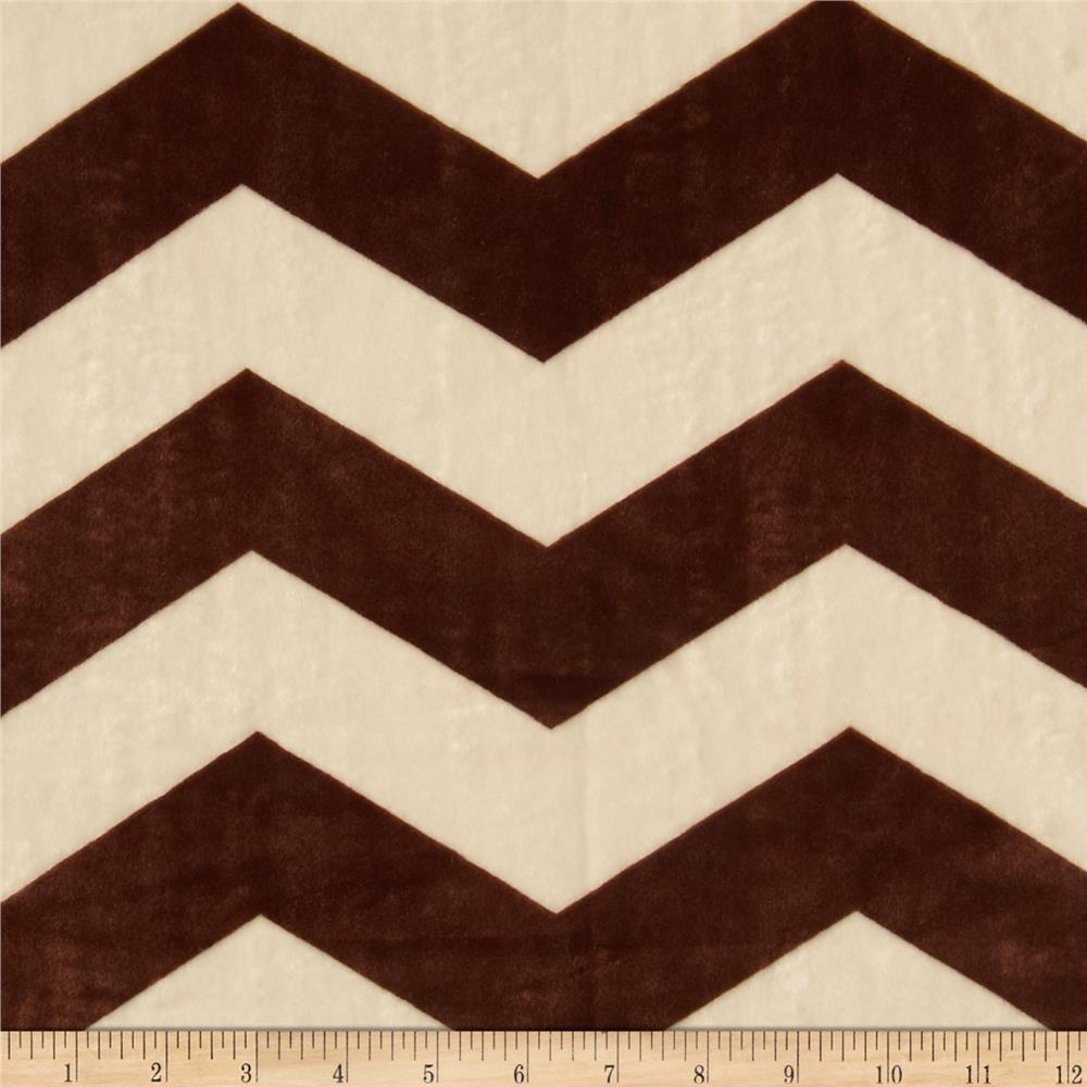Minky Cuddle Chevron Cream/Brown