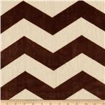 0283868 Minky Cuddle Chevron Cream/Brown