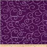 0269774 Indian Batik Swirl Purple