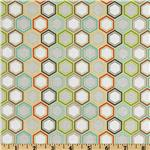 228435 Riley Blake Life In The Jungle Hexagons Gold