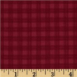 Mrs. March's Collection Plaid Tonal Red