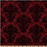 April In Paris Damask Red