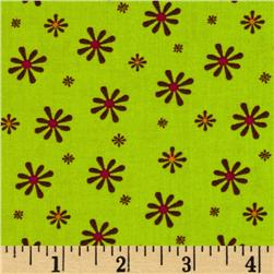 Silk Road Small Flowers Lime