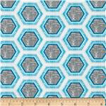 0270485 Ty Pennington Impressions 2012 Hive Honeycomb Event Grey/Blue