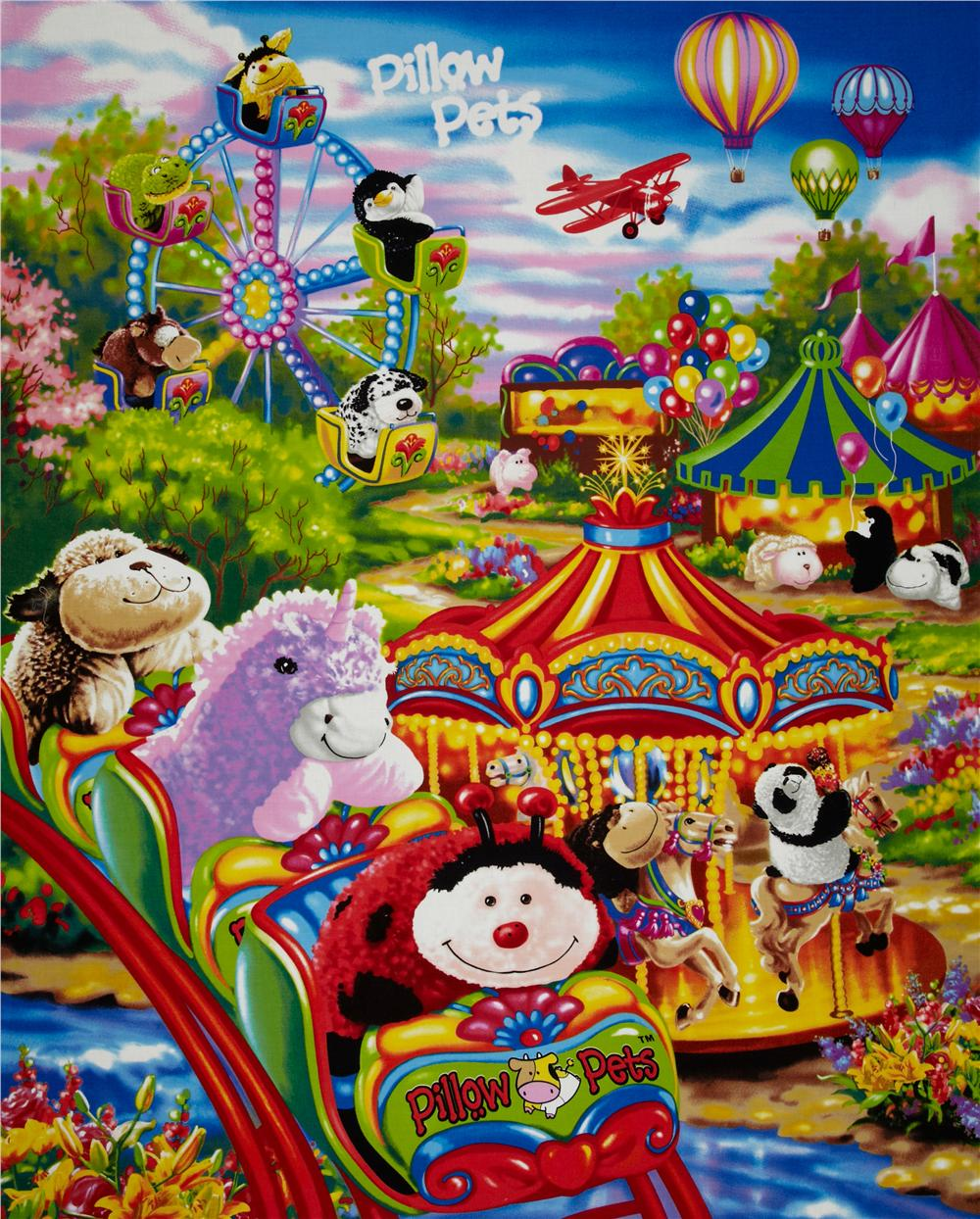 Pillow Pets Carnival  Panel Multi