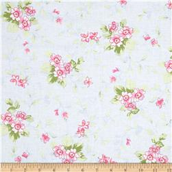 Treasures by Shabby Chic Ballet Rose Small Floral Blue