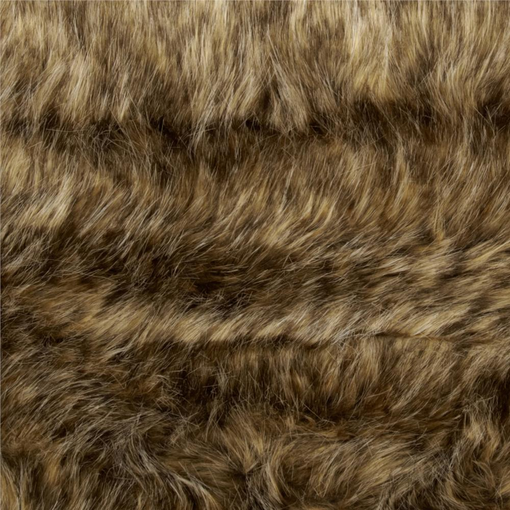 Faux Fur Desert Coyote Caramel/Gold