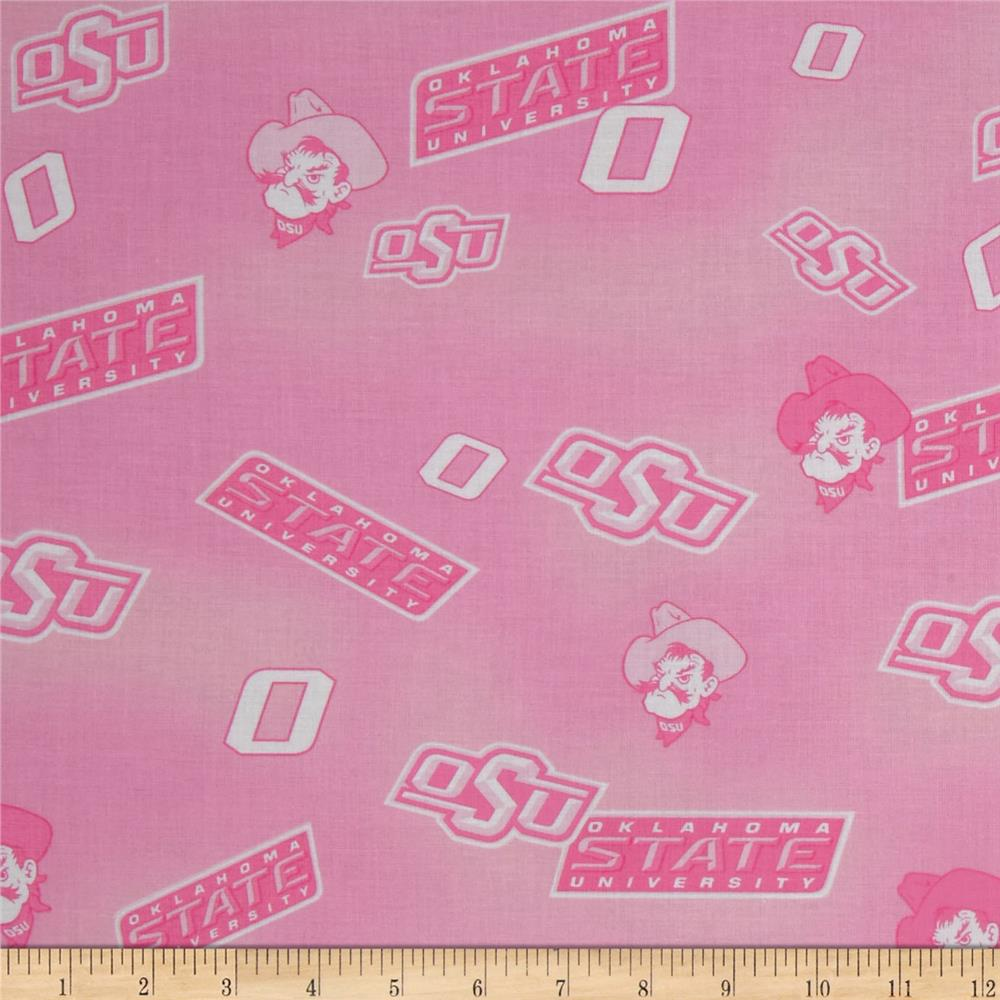 Collegiate Cotton Broadcloth Oklahoma State Pink