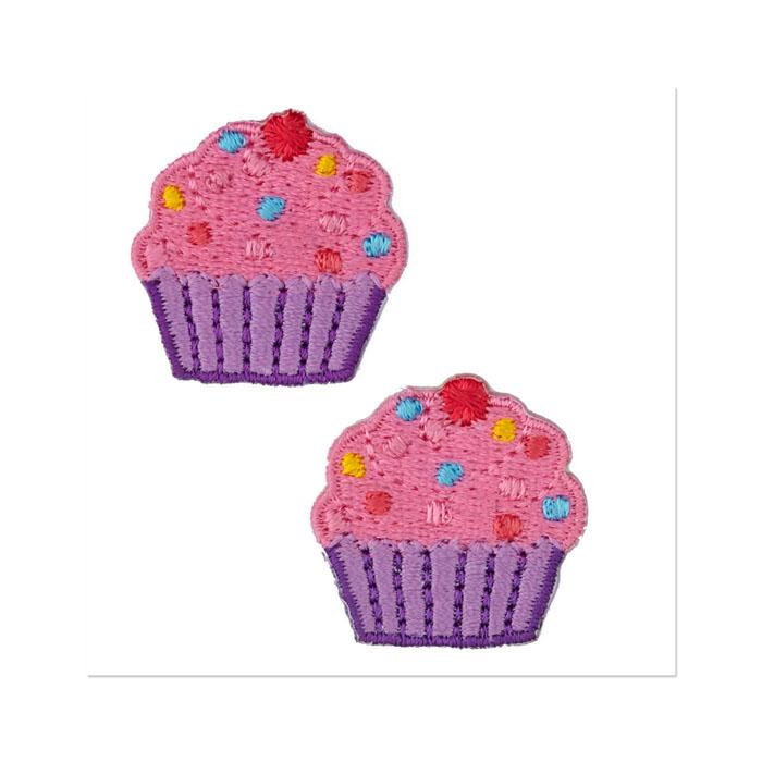 Boutique Applique Cupcake Pink/Purple/Multi