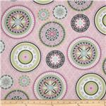 Silk Road Large Medallions Pink